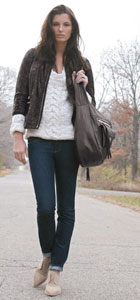 A polished and casual jeans look from Shopbop