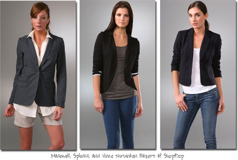 Shrunken Blazers at ShopBop