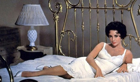 "Who can forget the iconic sex appeal of THAT white silk slip in ""Cat On A Hot Tin Roof"" in 1958?"