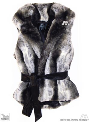 Faux fur vest by Imposter