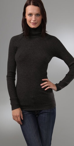 Vince  Ribbed Cashmere Turtleneck Sweater at Shopbop.com