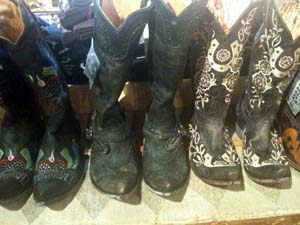 Western boots in Wyoming