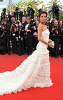 Red Carpet Fashion Alert. There's a Train Gang going on at Cannes and it looks VERY Bridal