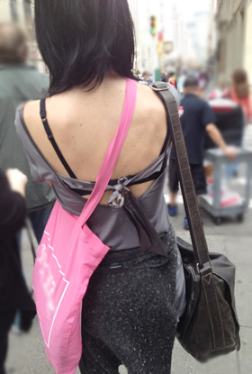 The gross purposely exposed bra