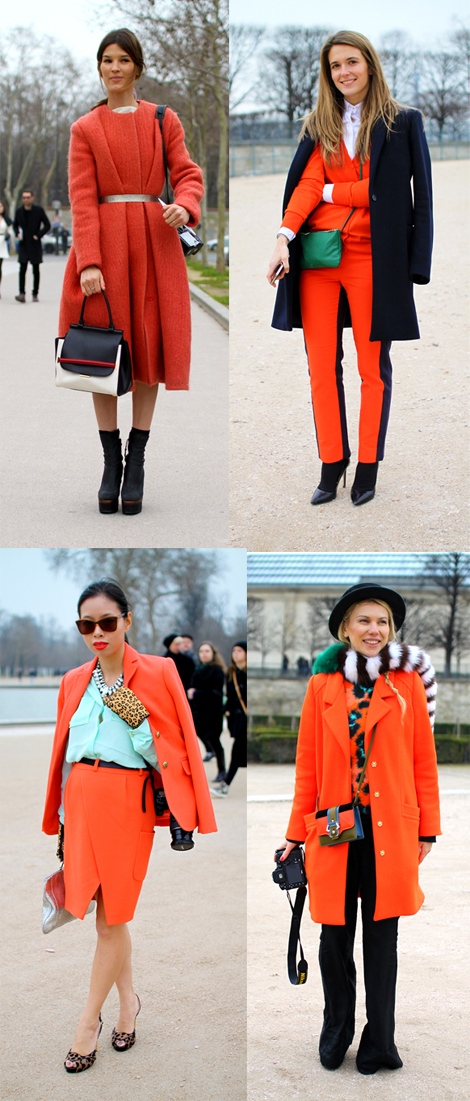 Transition to Spring with Red Coats- seen at Paris Fashion Week
