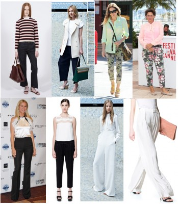 An array of summer pants styles & a head's from resort 2014 too!